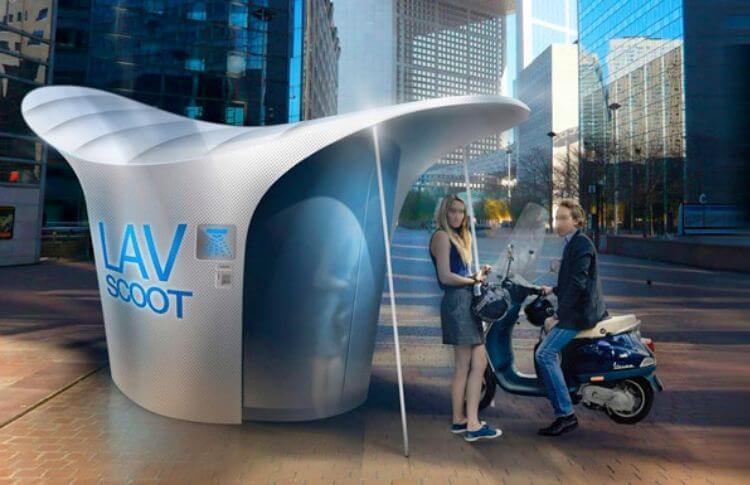 La station de lavage pour scooters, Clean'scoot
