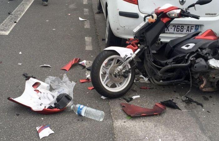 Les chiffres des accidents de scooter à Paris