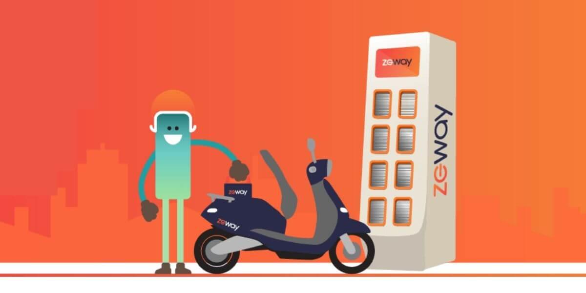 Visuel de la startup ZEWAY qui va proposer des scooters électriques en location longue durée dès 2020